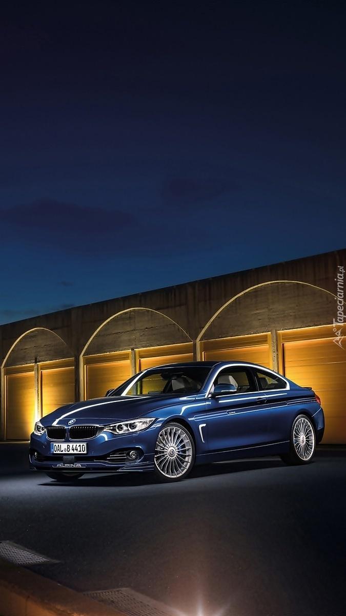 BMW przed garażem