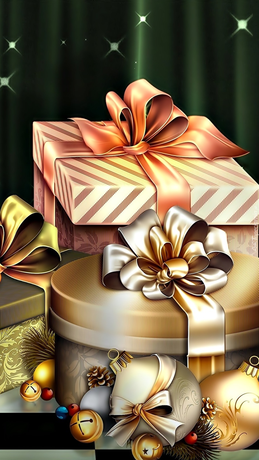Bombki i prezenty świąteczne