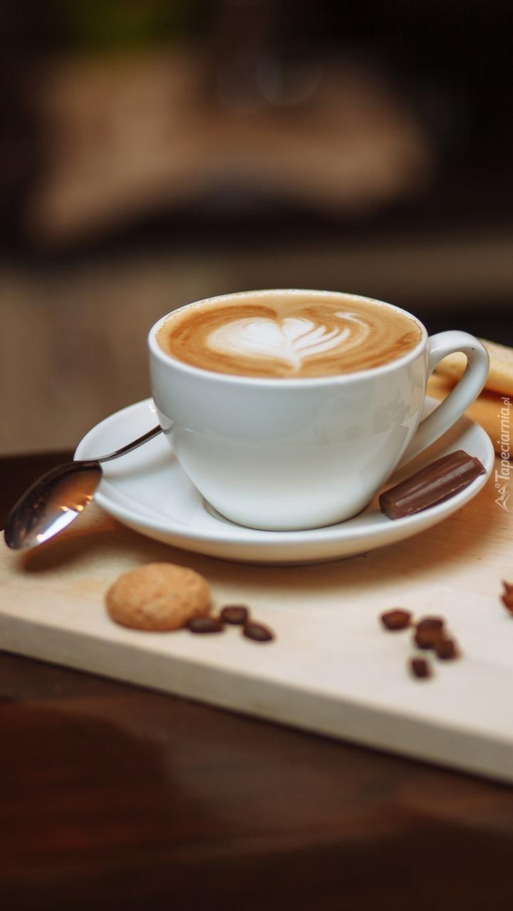 Cappuccino z ciasteczkiem
