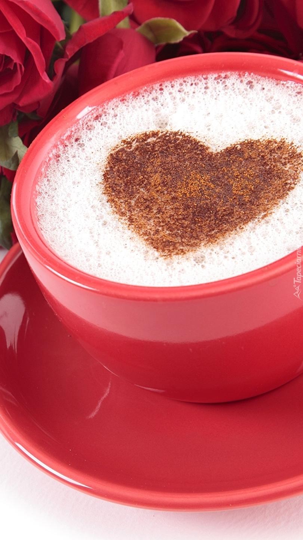Cappuccino z sercem