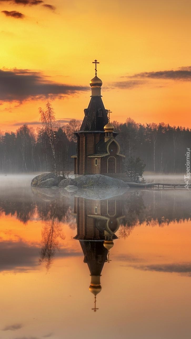 Cerkiew na rzece Vuoksi w Rosji