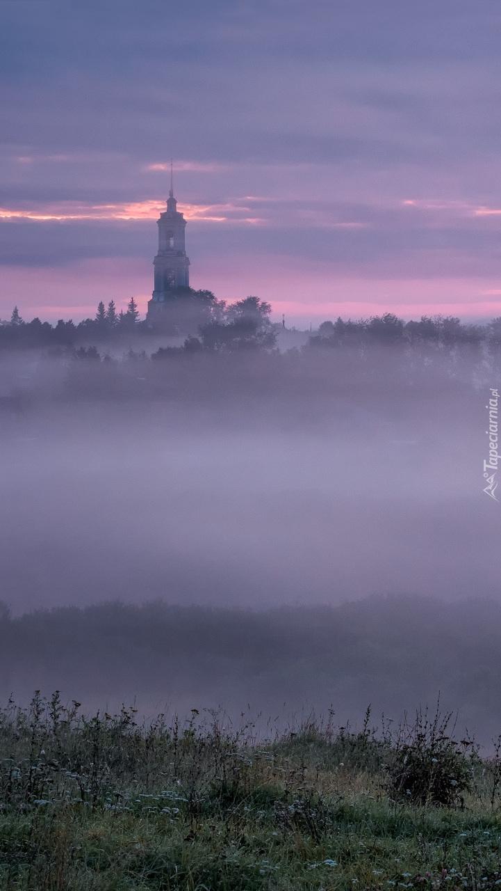 Cerkiew za mgłą