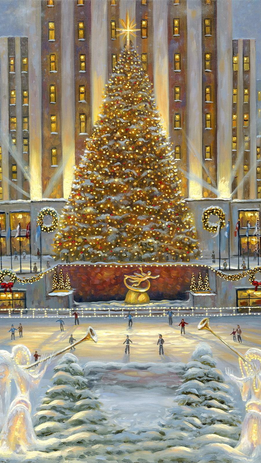 Choinka w Rockefeller Center
