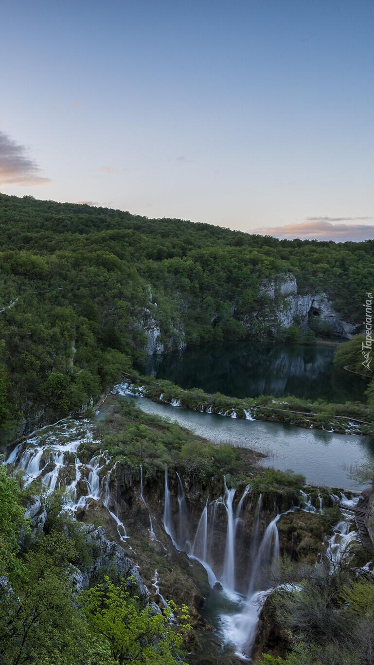 Chorwackie jeziora i wodospady