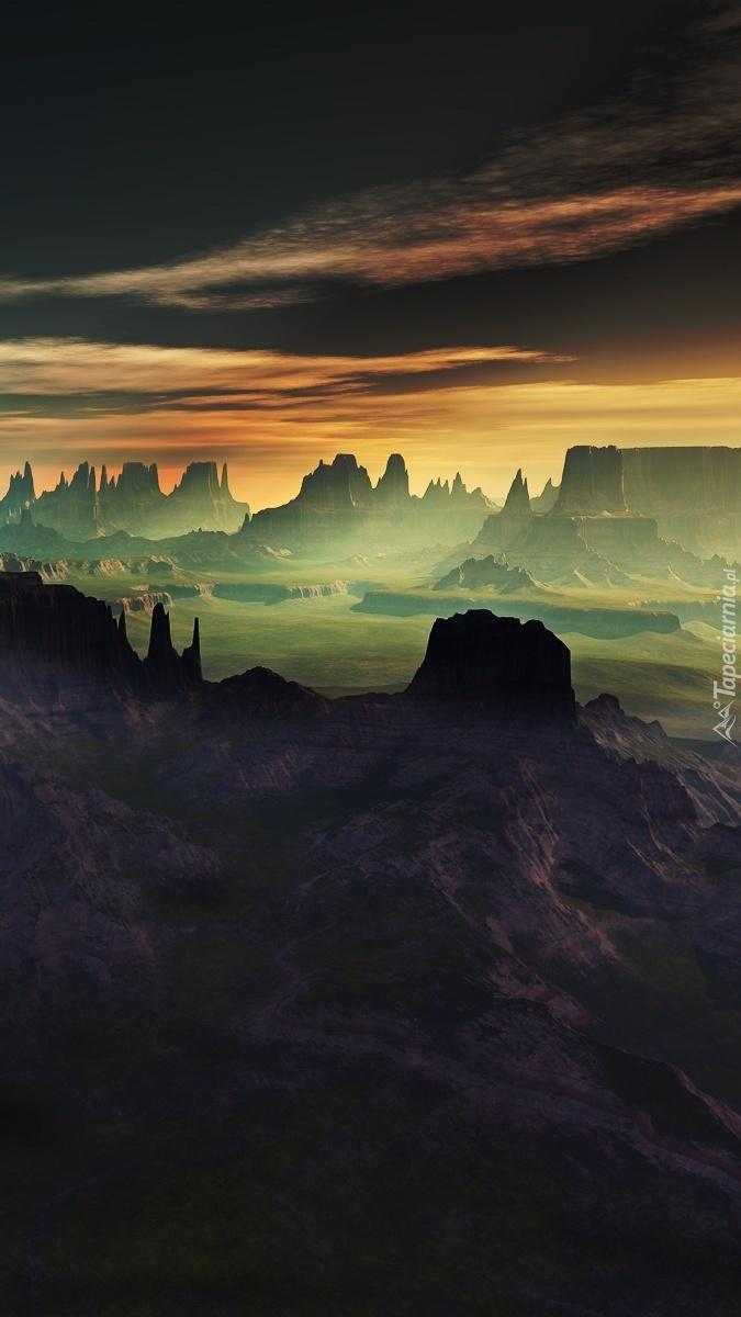 Ciemne niebo nad kanionem