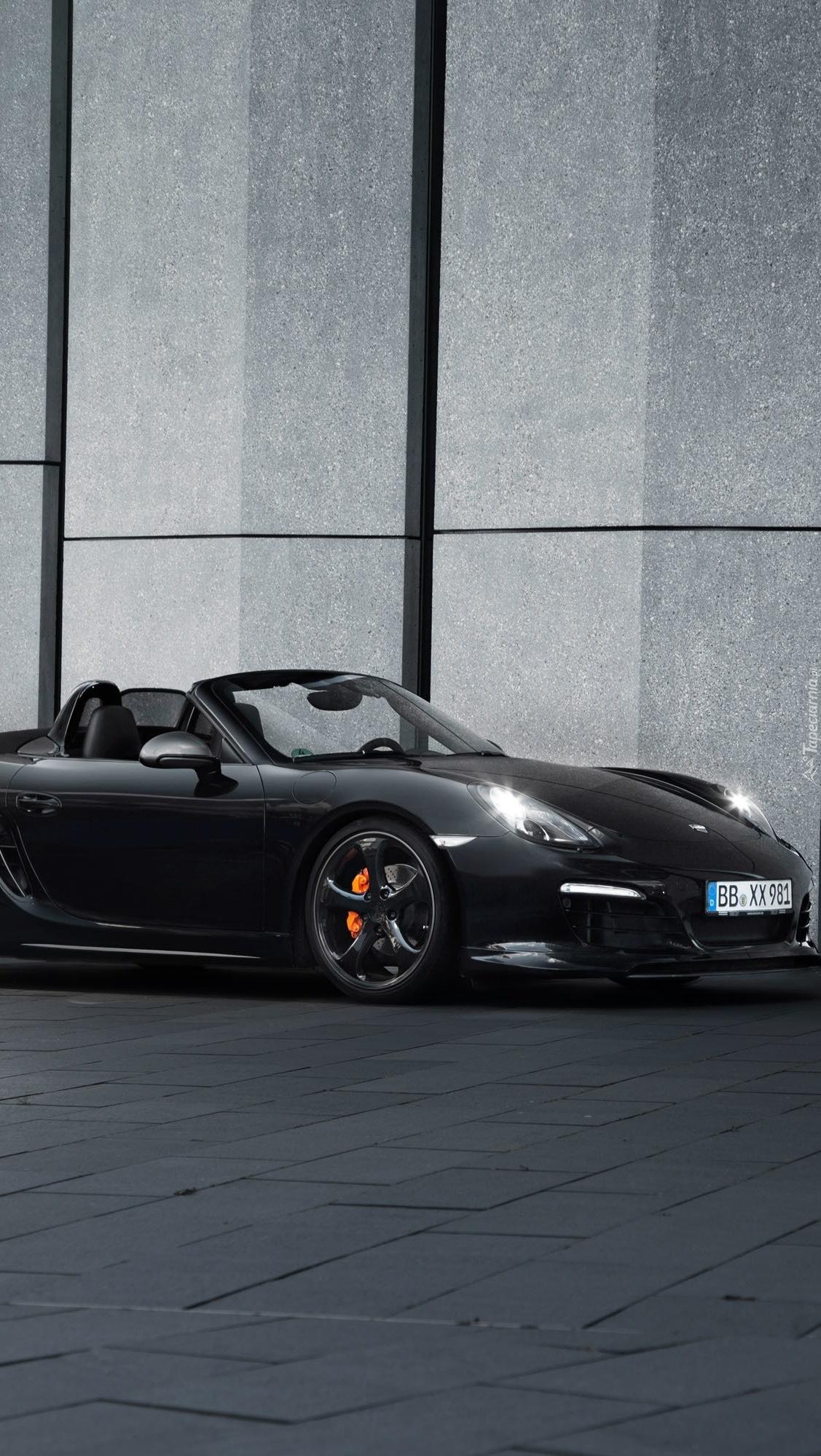 Czarne Porsche Boxster