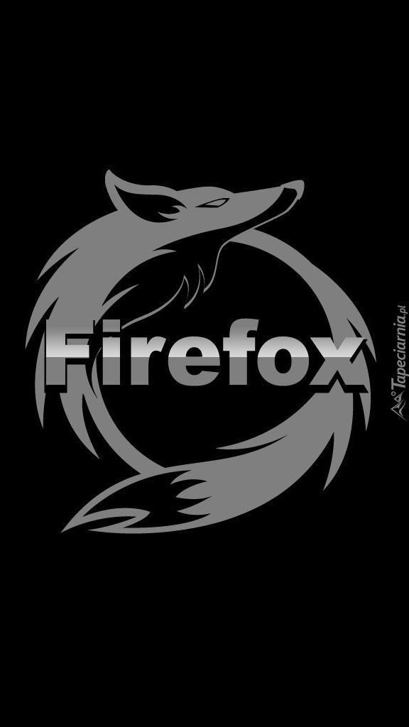 Czarno-białe logo Firefoxa
