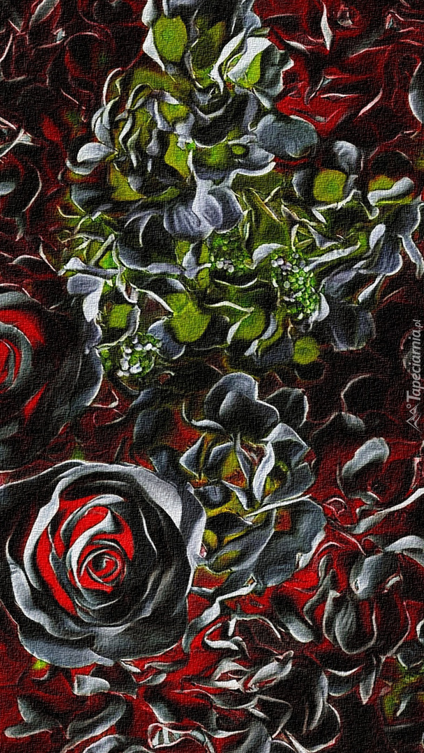 Czarno-czerwone róże