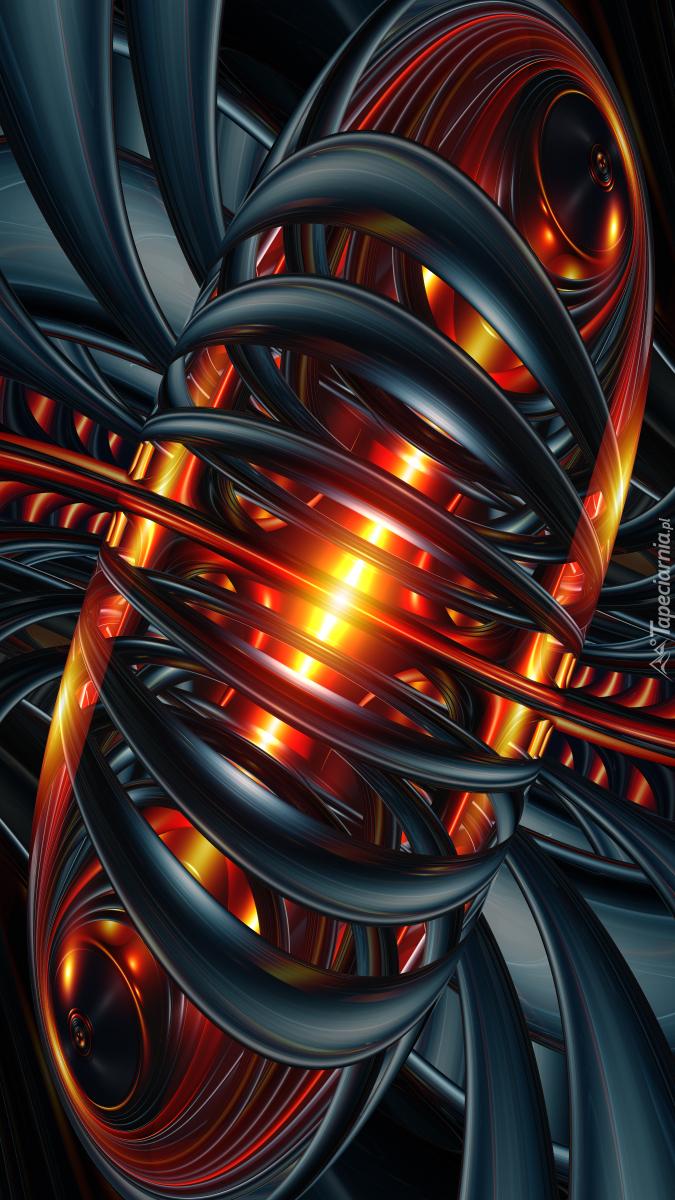 Czarno-pomarańczowa abstrakcja