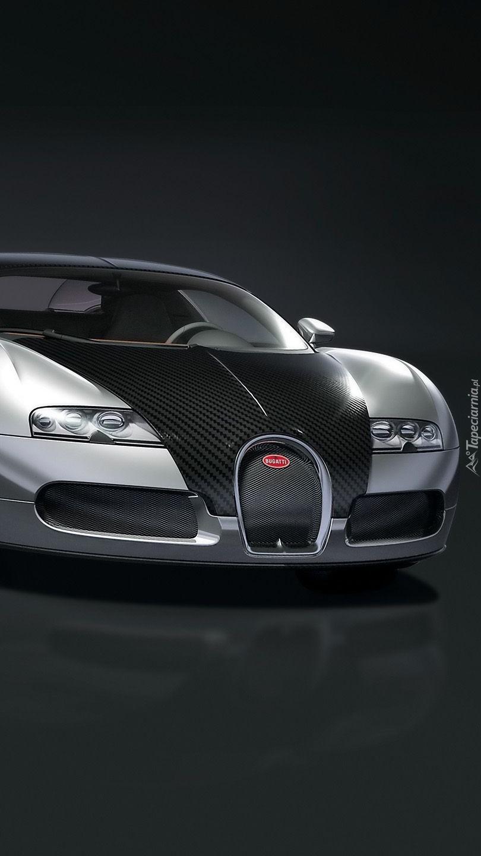 Czarno-srebrne Bugatti Veyron