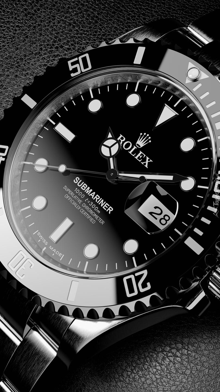 Czarny Rolex Submariner