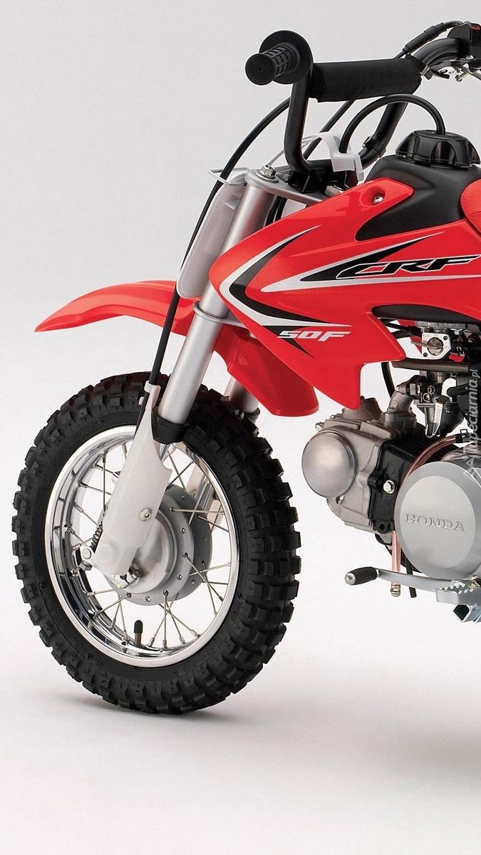 Czerwona Honda CRF 50