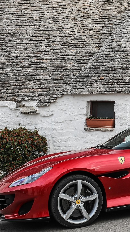 Czerwone Ferrari Portofino