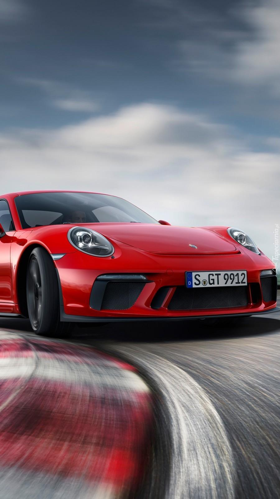 Czerwone Porsche 911 GT3