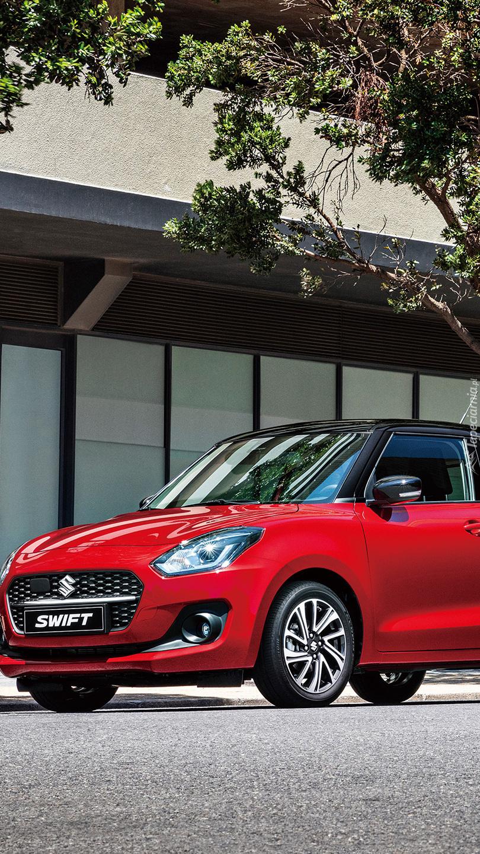 Czerwone Suzuki Swift