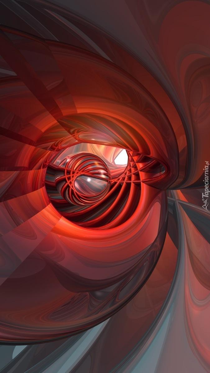 Czerwone wzory w abstrakcji