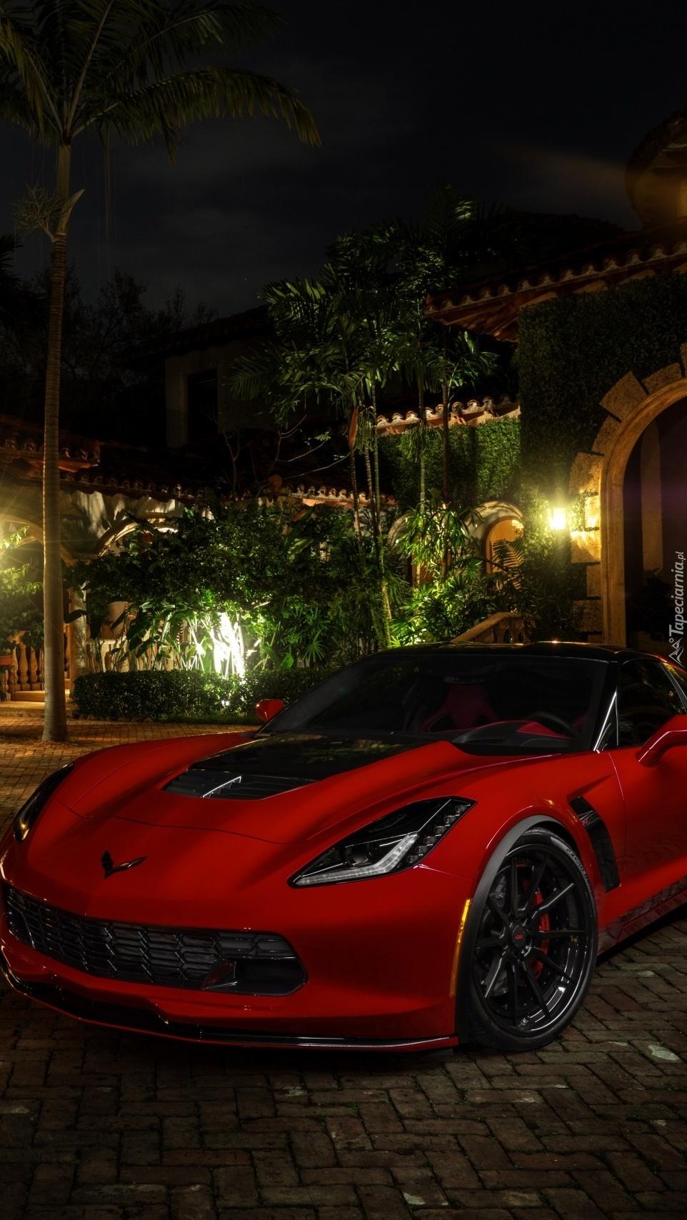 Czerwony Chevrolet