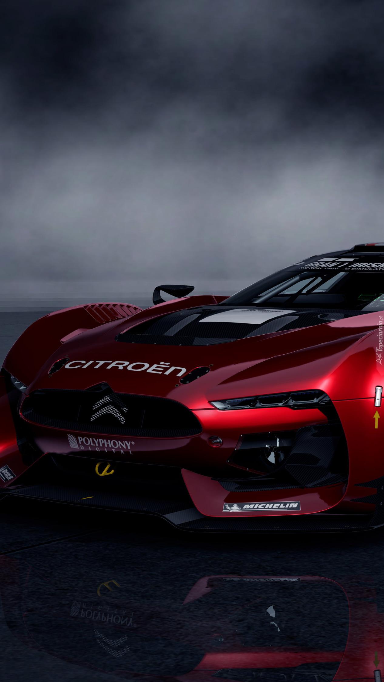 Czerwony Citroen Gran Turismo