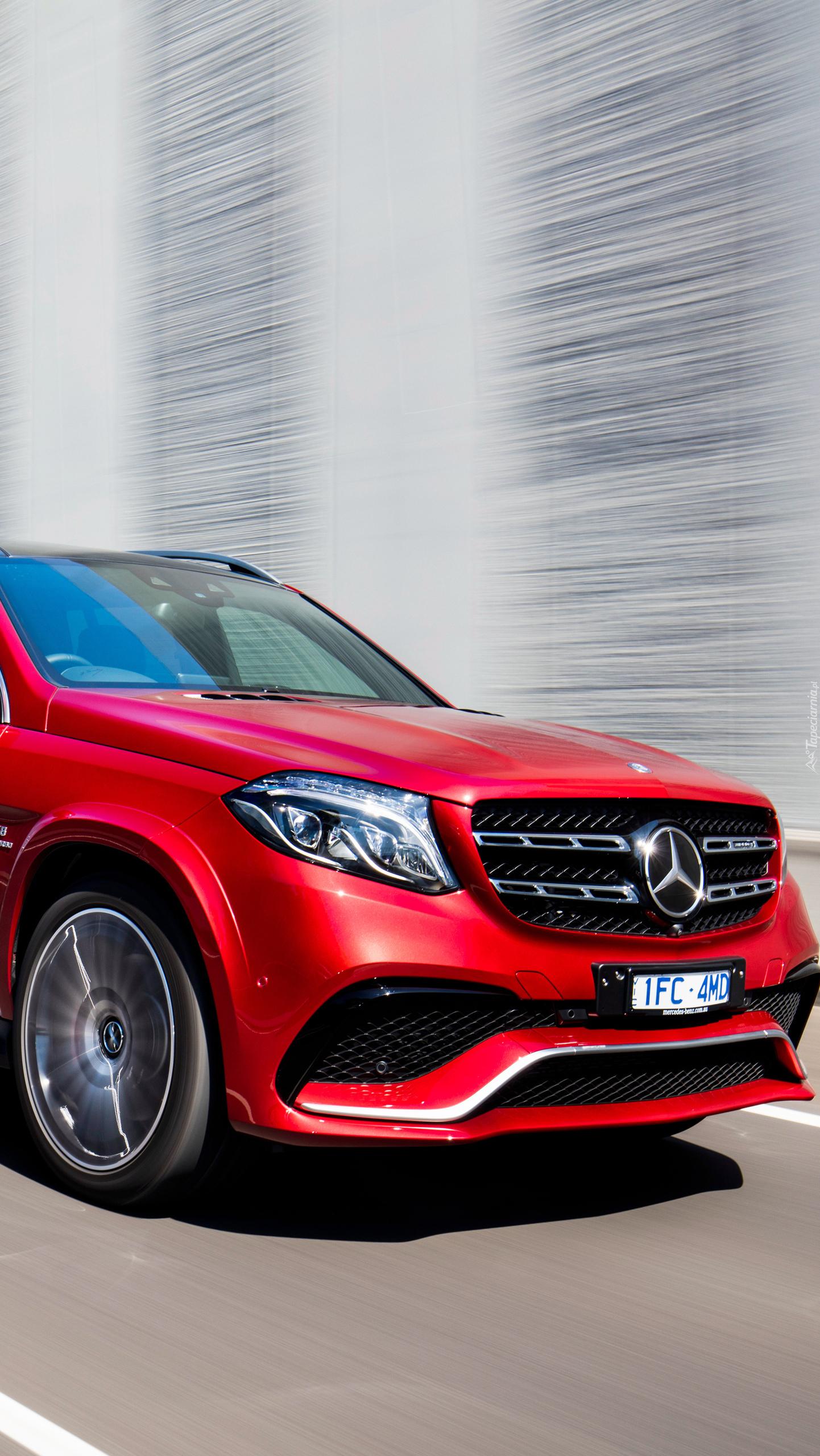Czerwony Mercedes-AMG GLS 63