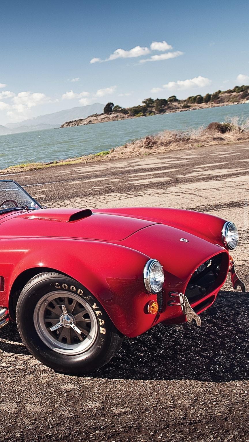 Czerwony Shelby Cobra
