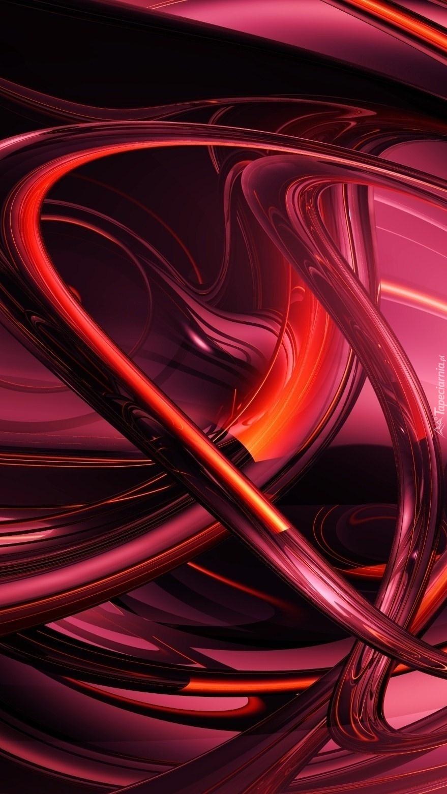 Czerwony wężyk w abstrakcji