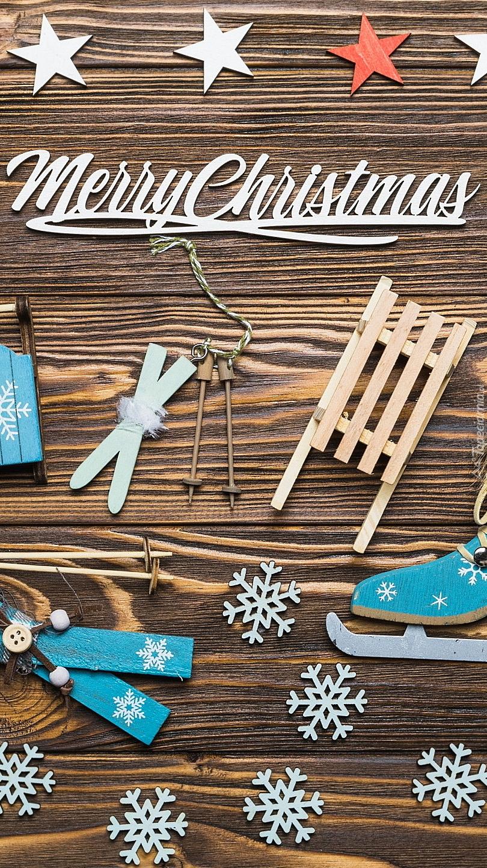 Dekoracja świąteczna z napisem Merry Christmas
