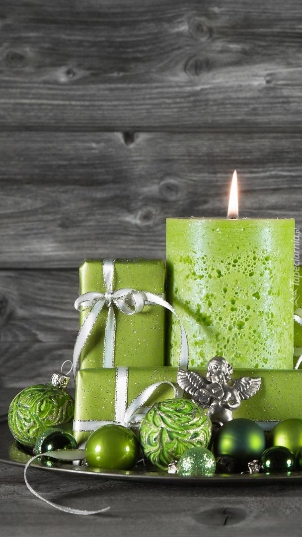 Dekoracja w zieleni