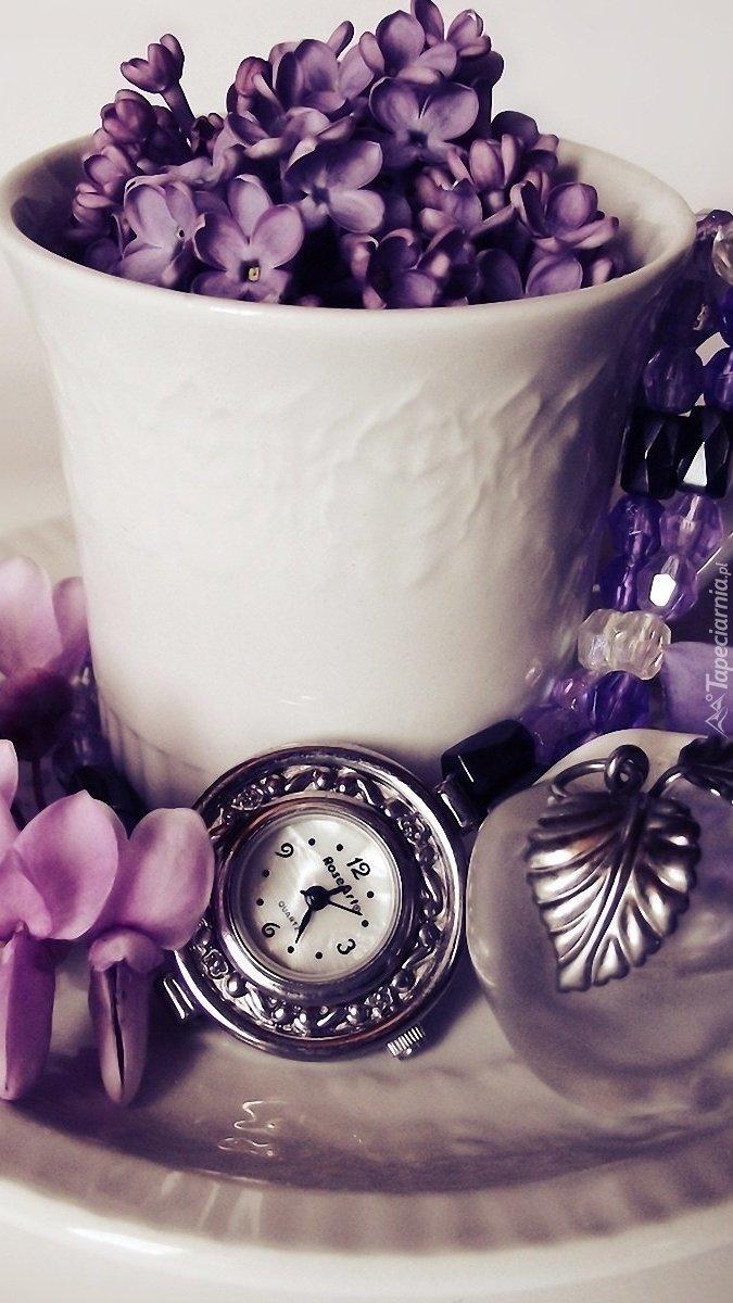 Dekoracja z zegarkiem