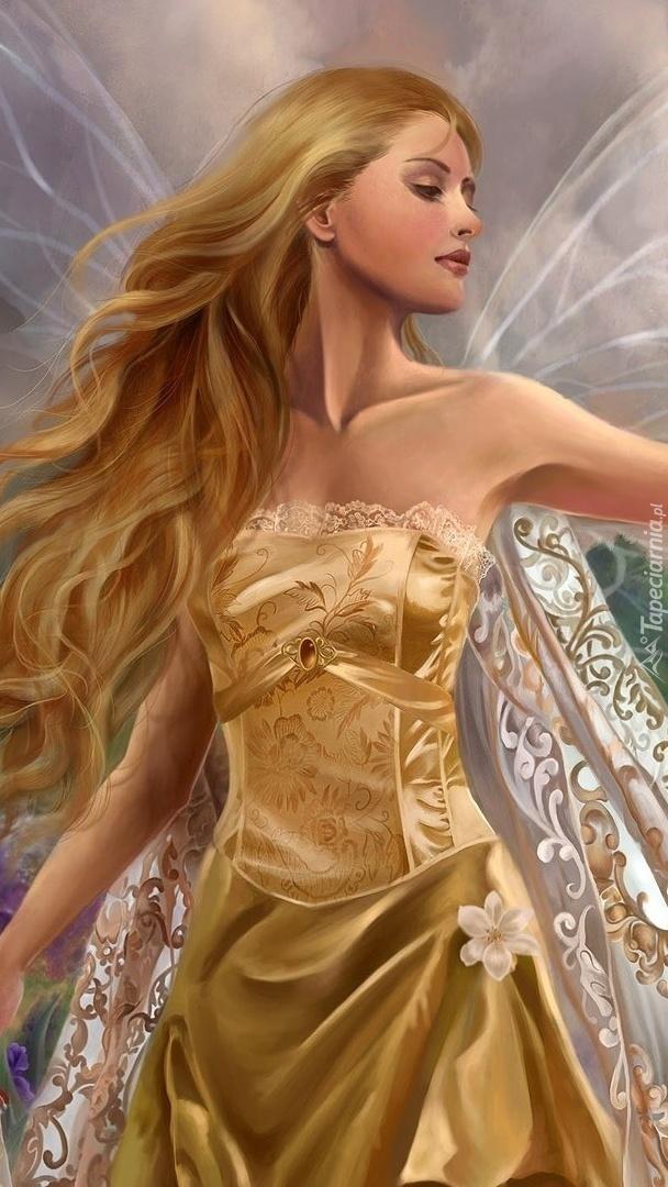 Długowłosy anioł