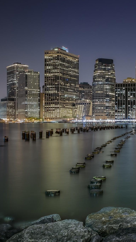 Dolny Manhattan w Nowym Yorku nocą