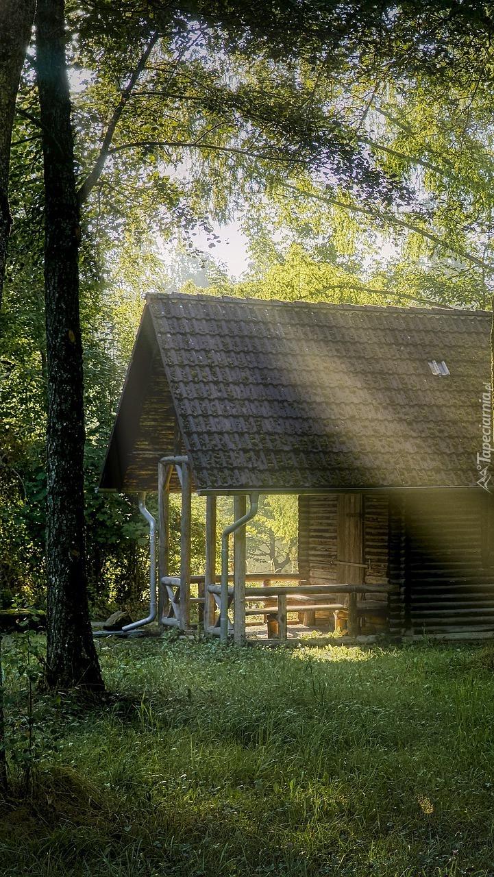 Dom w promieniach słońca