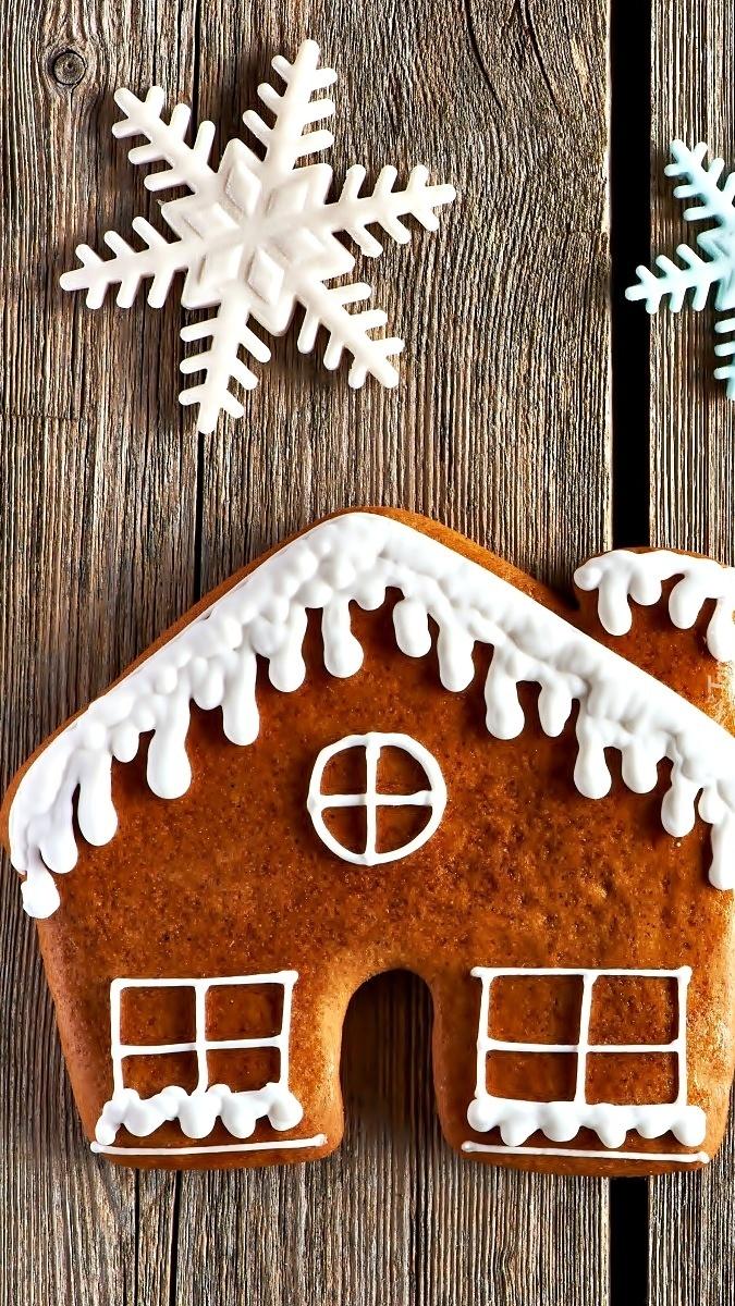Dom z piernika i gwiazdki na święta