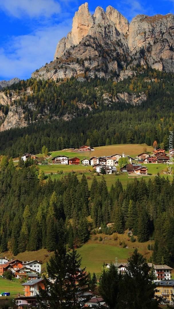 Domy w górskiej dolinie