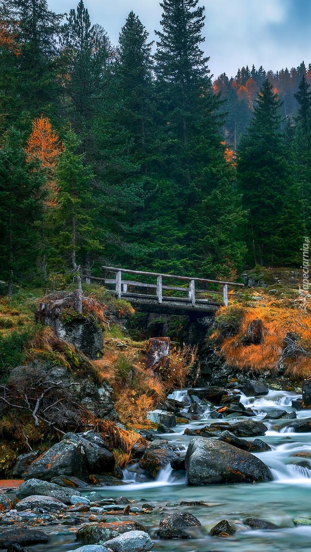 Drewniany mostek nad rzeką