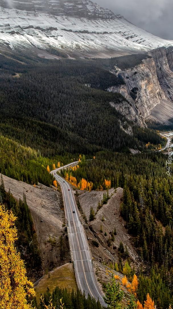 Droga Icefields Parkway w Kanadzie