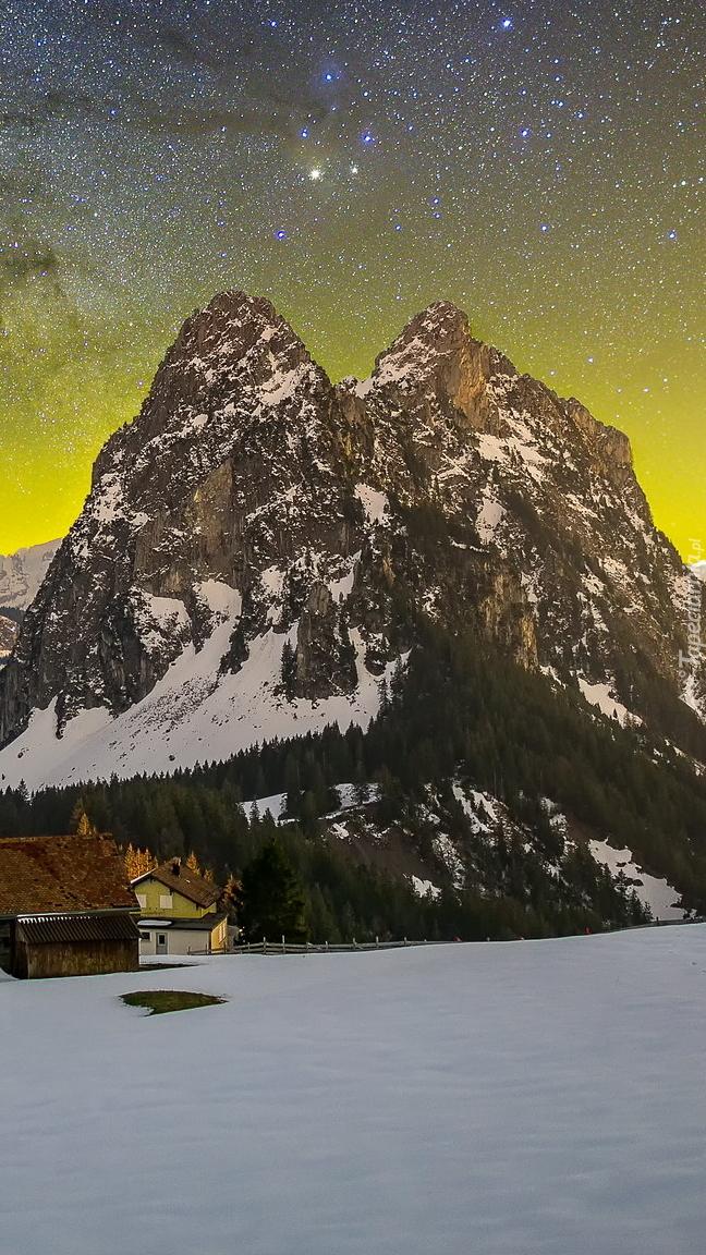 Droga Mleczna nad górami