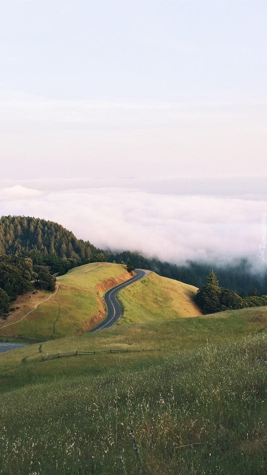 Droga na wzgórzu