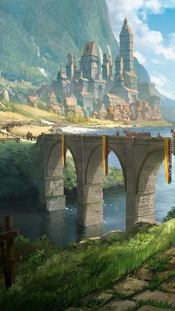 Droga przez most do zamku