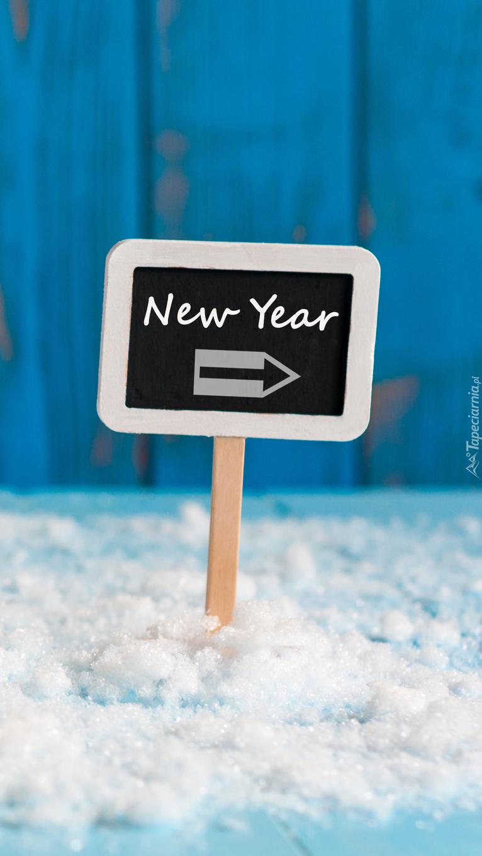 Drogowskaz wskazujący drogę do Nowego Roku