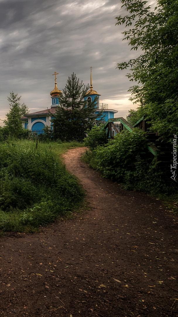 Drzewa przy ścieżce do cerkwi