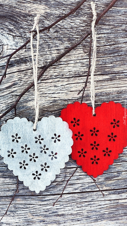 Dwa serca na sznurku