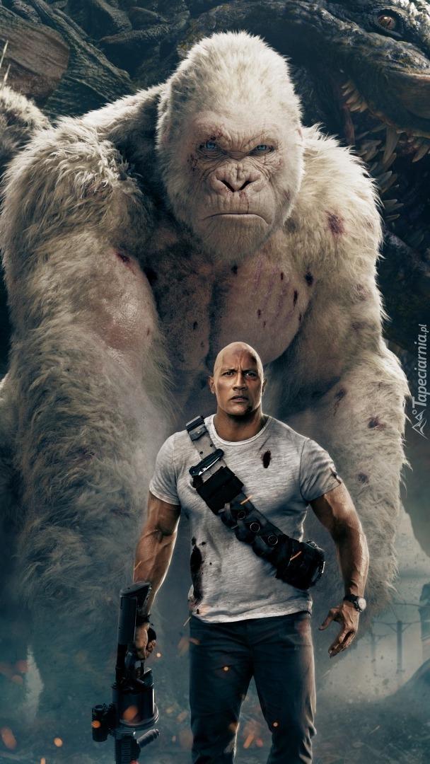 Dwayne Johnson z gorylem