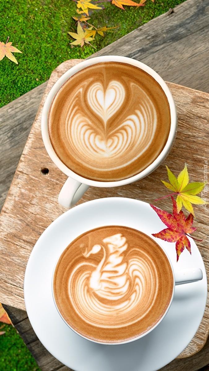 Dwie kawy cappuccino