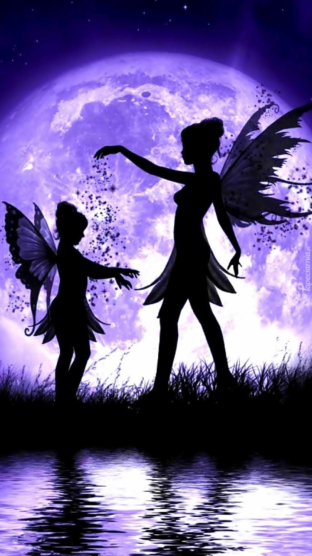 Dwie postacie z skrzydłami