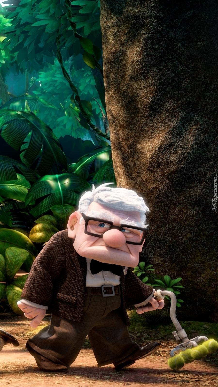 Dziadek Carl Fredricksen w filmie animowanym Odlot