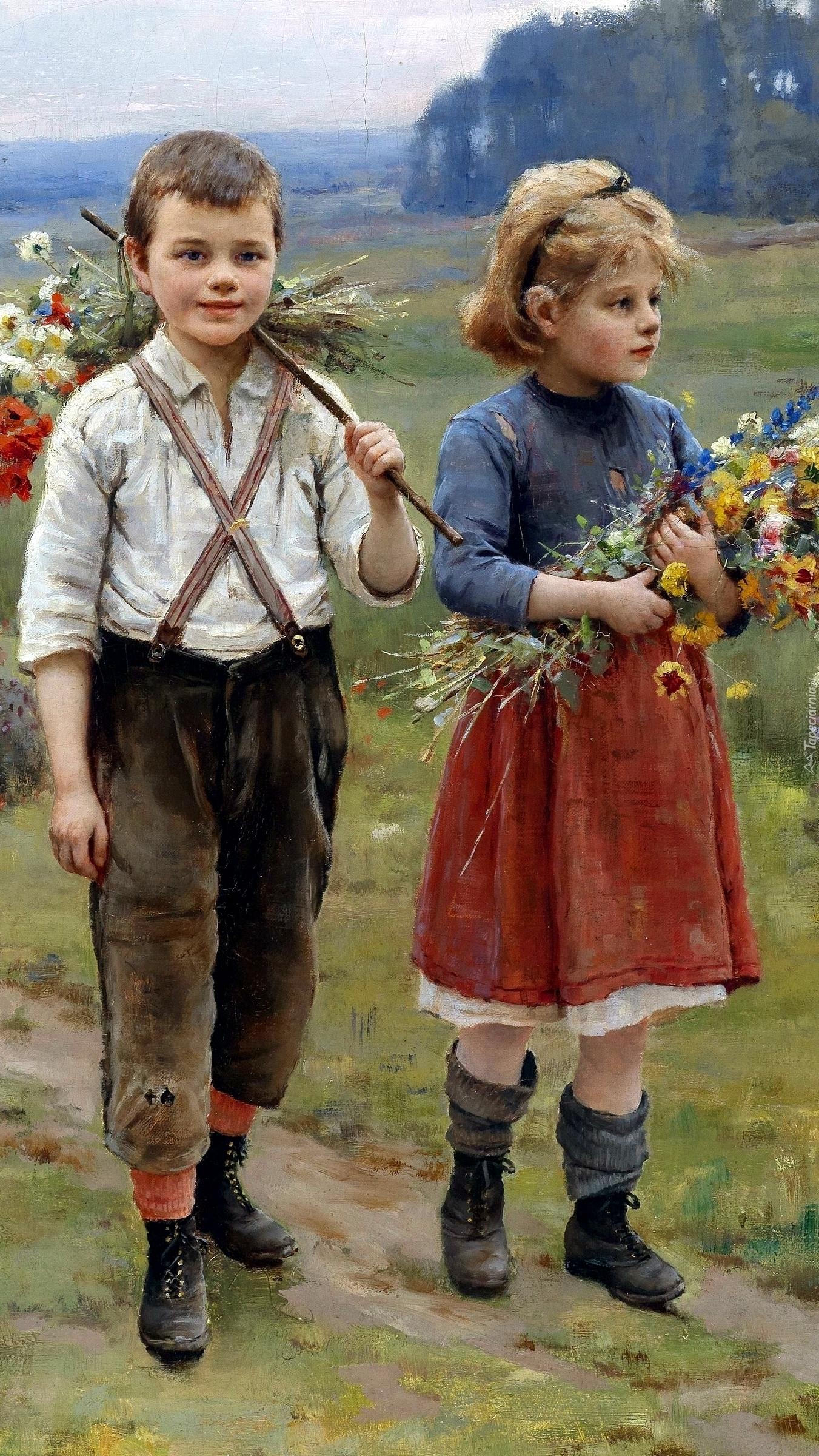 Dzieci z kwiatami