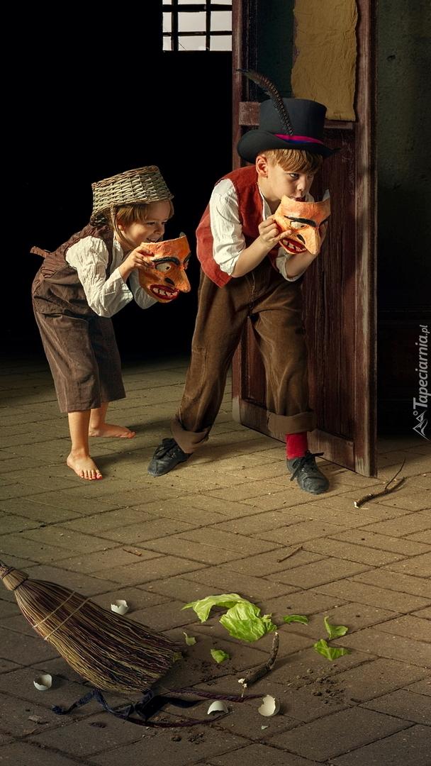 Dzieci z maskami