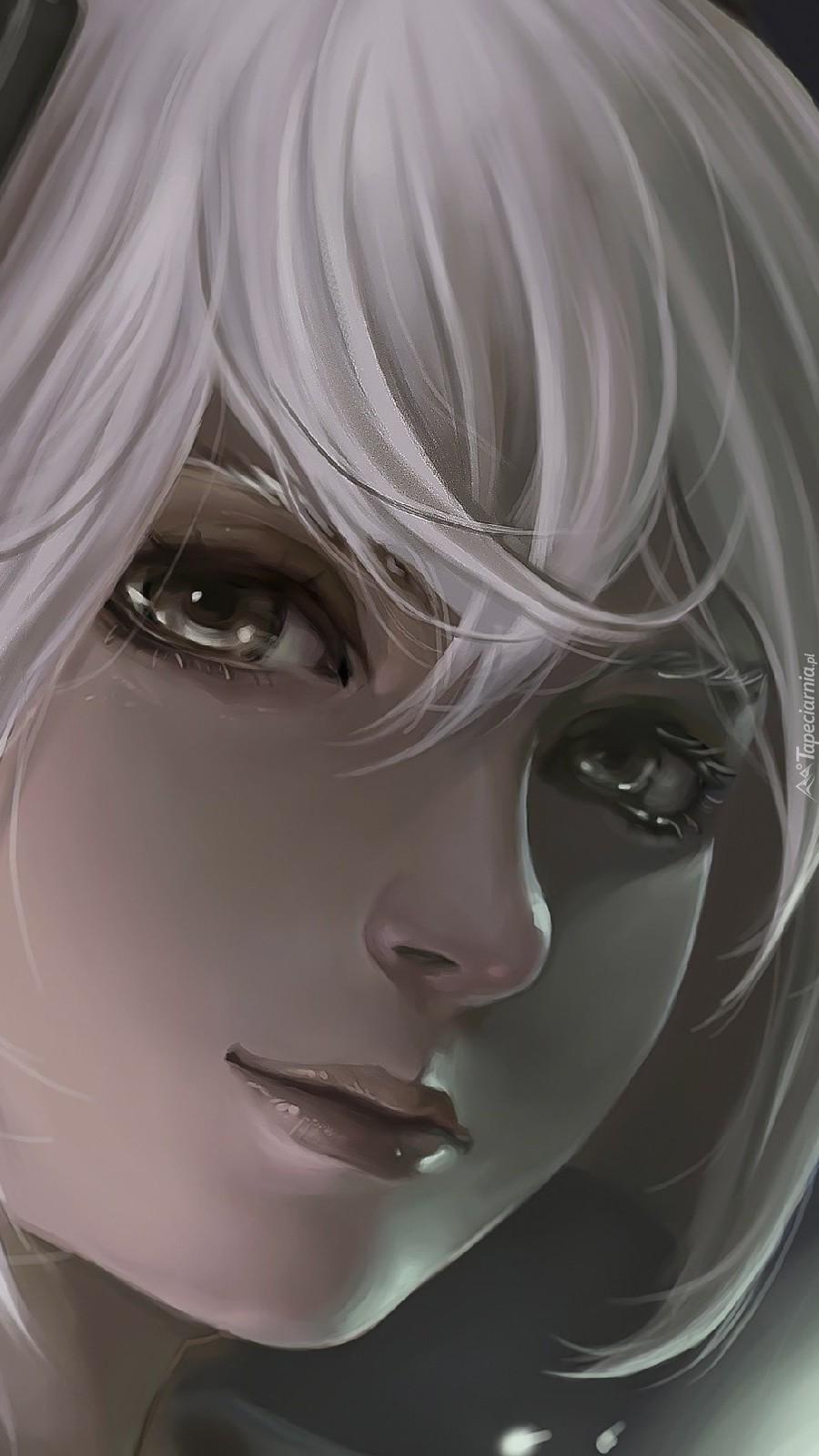Dziewczyna o białych włosach
