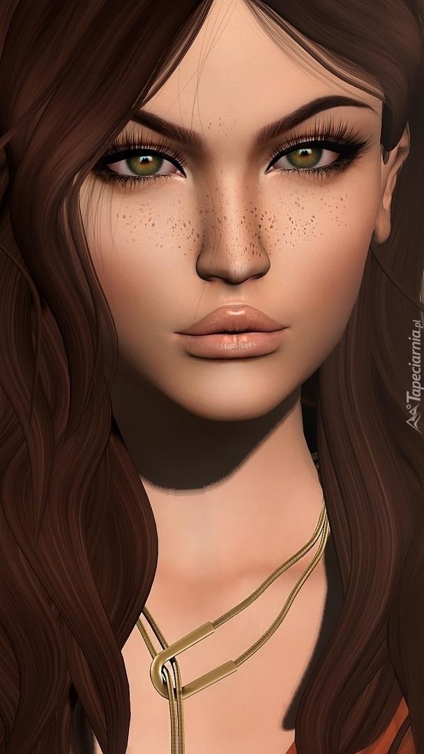 Dziewczyna o brązowych włosach