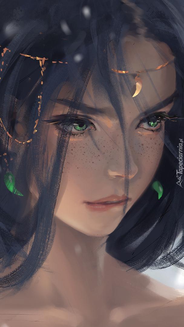 Dziewczyna o zielonych oczach
